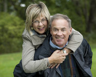 Mature couple outdoors Stock Photo