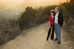 Mature couple outdoors royalty free stock images