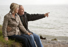 Mature couple outdoors stock images
