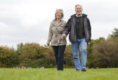 Mature couple outdoors Royalty Free Stock Photos