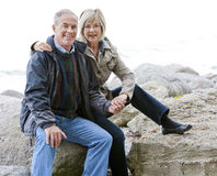 Mature couple outdoors Royalty Free Stock Image