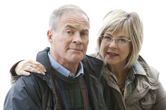 Mature couple outdoors Stock Photography