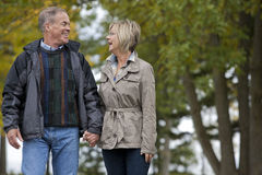 Mature couple outdoors Royalty Free Stock Photos
