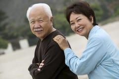 Mature couple outdoors (portrait) Stock Photos