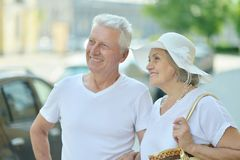 Mature couple outdoors Royalty Free Stock Photo