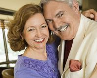 Mature couple portrait. Royalty Free Stock Image