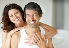 Mature couple relaxing in each others company Royalty Free Stock Photos