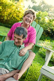 Mature Couple Relaxing Outdoors Stock Images