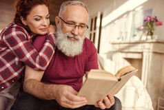 Mature couple relaxing Royalty Free Stock Image