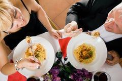 Mature Couple romantic dinner Royalty Free Stock Image