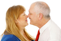 Mature Couple Rubbing Noses Stock Photo