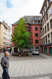 Mature couple at Rue des Hallebardes Royalty Free Stock Images