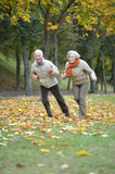 Mature couple running Royalty Free Stock Photography