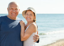 Mature couple at sea Royalty Free Stock Images