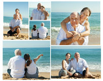 Mature couple at sea vacation Royalty Free Stock Photos