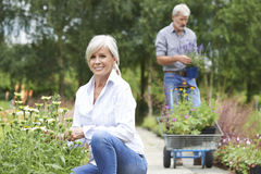 Mature Couple Shopping At Garden Centre Royalty Free Stock Photo