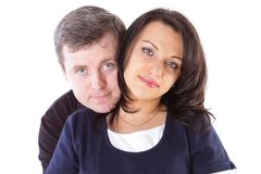 Mature couple smiling together Royalty Free Stock Photo