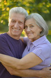 Mature couple in summer park Royalty Free Stock Images