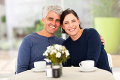 Mature couple tea Stock Images
