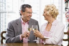 Mature couple toasting. Royalty Free Stock Photo