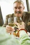 Mature couple toasting. Stock Photos