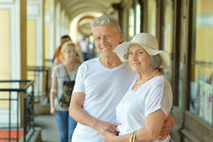 Mature couple in town Stock Image