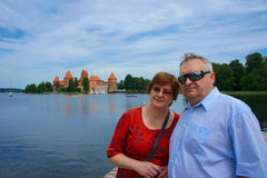 Mature couple travels to Europe Stock Image