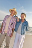Mature Couple on Vacation at the Beach Royalty Free Stock Photo
