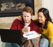 Mature Couple very postive about Work Results Royalty Free Stock Image
