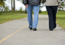 Mature couple walking Stock Photography