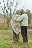 Mature couple walking Royalty Free Stock Image