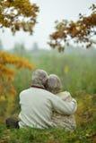 Mature couple walking Stock Photos