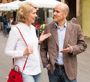 Mature couple walking Stock Images