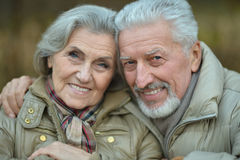 Mature couple walking Royalty Free Stock Photos