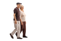 Mature couple walking together Stock Images