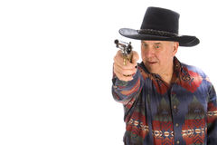 Mature cowboy. Royalty Free Stock Photography
