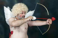Mature Cupid Royalty Free Stock Photography