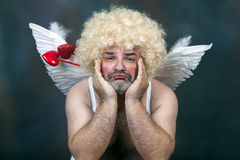 Mature Cupid Stock Photography