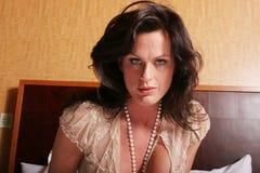mature den sexiga kvinnan Royaltyfri Foto
