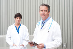 Mature doctor at hospital Stock Photography