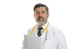 Mature Doctor with stethoscope Royalty Free Stock Photos
