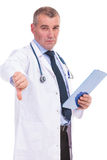 Mature doctor with very bad news Royalty Free Stock Photography