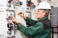 Mature electrician royalty free stock images