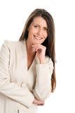 Mature elegant woman smiling stock images