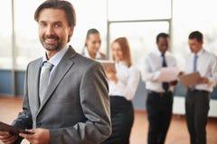 Mature employer Royalty Free Stock Image