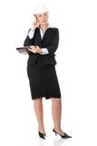 Mature engineer woman. Royalty Free Stock Photos