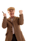 Mature English countryman cheering Stock Photos