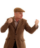 Mature English countryman ready for a fight Stock Image