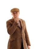 Mature English countryman smoking Royalty Free Stock Photo