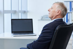 Mature entrepreneur Stock Image
